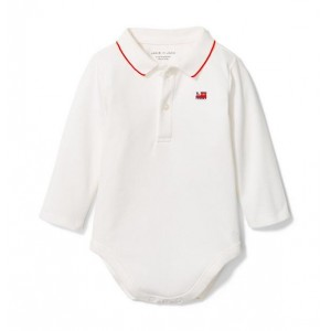 Baby Train Polo Bodysuit