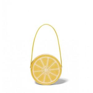 Lemon Straw Purse