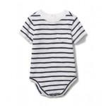 Baby Striped Slub Pocket Bodysuit