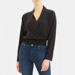 Long-Sleeve Top in Silk