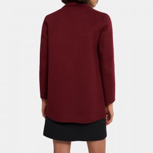 Clairene Shawl Jacket in Double-Face Wool-Cashmere