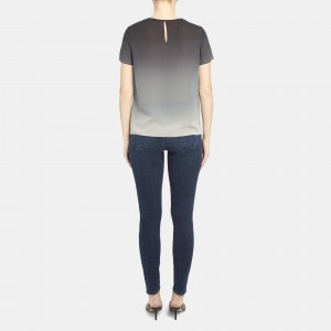 Woven Tee in Ombre Silk
