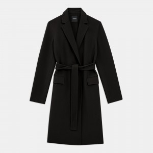 Belted Coat in Double-Face Wool-Cashmere