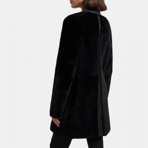 Piazza Coat in Polished Shearling