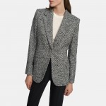 Fitted Blazer in Boucle Tweed