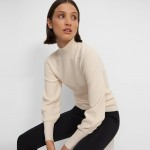 Mockneck Pullover in Wool-Cashmere