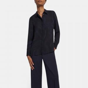 Straight Shirt in Galaxy Silk