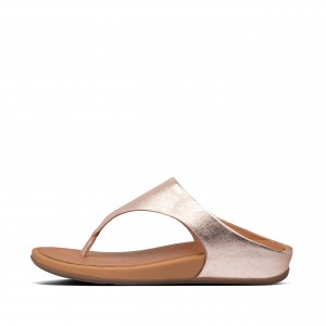 Leather Toe-Post Sandals
