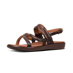 Womens BARELY Leather Back-Strap-Sandals