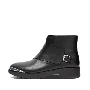 Womens Chiarra Leather Ankle-Boots