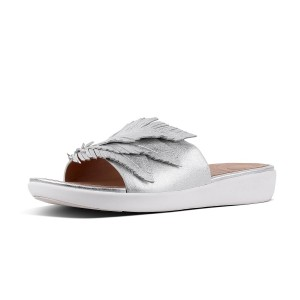 Womens FEATHER-SOLA Leather Slides