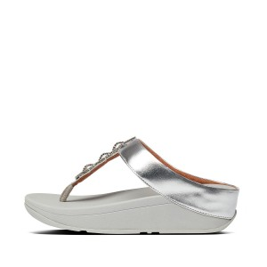 Womens Fino Faux-Leather Toe-Thongs