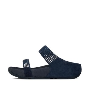 Womens FLARE Suede Slides