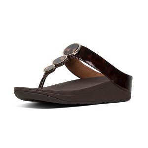 Womens HALO Faux-Leather Toe-Thongs