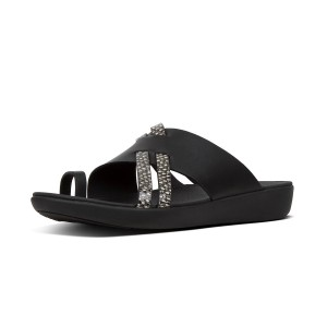 Womens LOOPY Leather Slides
