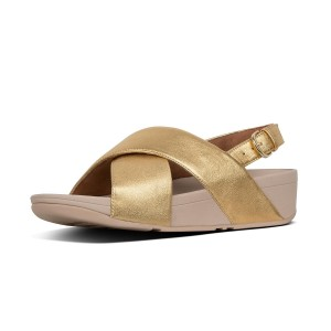 Womens Lulu Criss Cross Leather Back-Strap Sandals