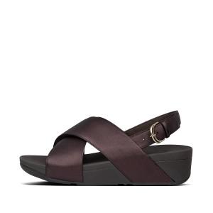 Womens Lulu Criss Cross Leather Back-Strap Sandals