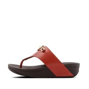 Womens Olive Pu Toe-Thongs