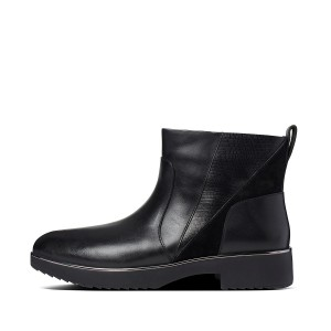 Womens Salma Leather Ankle-Boots