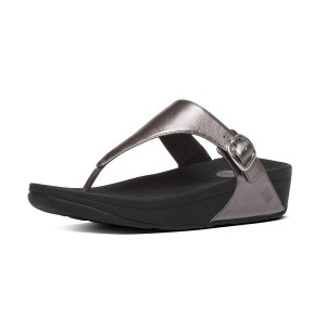 Womens THE-SKINNY Leather Toe-Post Sandals
