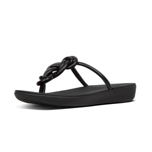 Womens TIERA Faux-Leather Toe-Thongs
