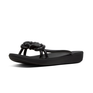 Womens TIERA Faux-Leather Slides
