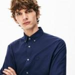 Mens Regular Fit Cotton Mini Pique Shirt