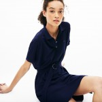 Womens Flowing Pique Polo Dress