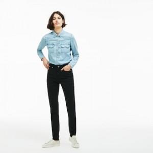 Womens Lacoste LIVE Five-Pocket Stretch Cotton Denim Jeans