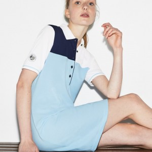 Womens Lacoste SPORT Roland Garros Edition Mini Pique Polo Dress