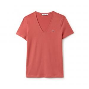 Womens Slim Fit V-Neck Cotton Jersey T-shirt