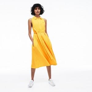 Womens Soft Petit Pique Polo Dress