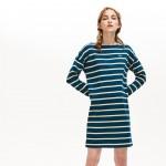 Womens Ribbed Cotton Sailor Dress