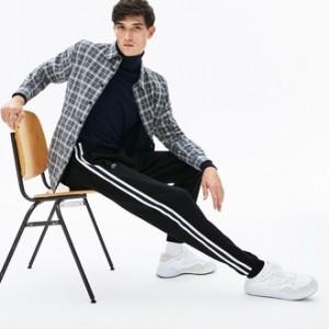 Mens Fleece Side Stripe Trackpants
