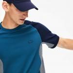 Men's Motion Regular Fit Colorblock Cotton-Pique Performance T-shirt