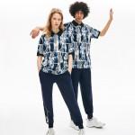 Unisex LIVE Loose Fit Graphic Print Cotton Polo Shirt