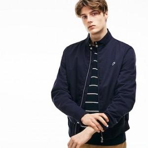 Mens Short Zip Cotton Twill Jacket