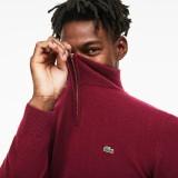 Mens Standup-Collar Wool Sweater