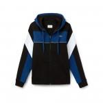 Mens SPORT Hooded Zip Colorblock Tennis Sweatshirt