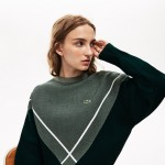 Womens Made In France Jacquard Crewneck Sweater