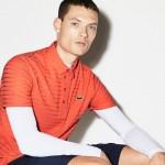 Mens SPORT Golf Striped Tech Jacquard Jersey Polo Shirt