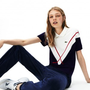 Womens Made In France Jacquard Pique Polo Shirt