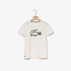 Boys Crewneck 3D Effect Crocodile Cotton T-shirt
