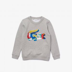Boys' Multicolor Crocodile Print Fleece Sweatshirt