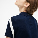 Womens Motion Tricolor Caviar Pique Polo