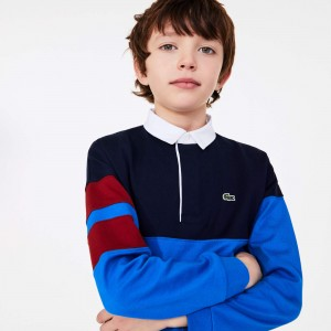 Boys Colorblock Thick Cotton Rugby Polo
