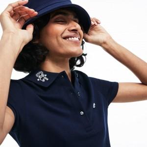 Womens Keith Haring Design Stretch Mini Pique Polo
