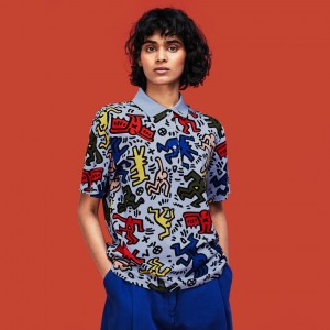 Womens Keith Haring Print Mini Pique Polo