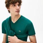 Mens V-neck Pima Cotton T-shirt