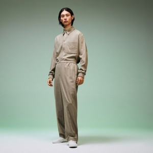 Mens Fashion Show Wide Fit Wool Pants